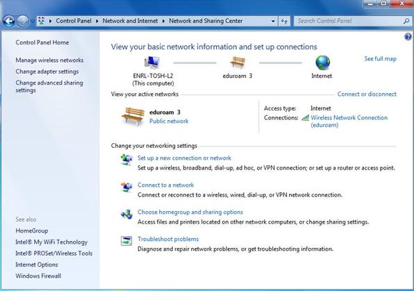 Troubleshooting eduroam on Windows 7 - IT Services